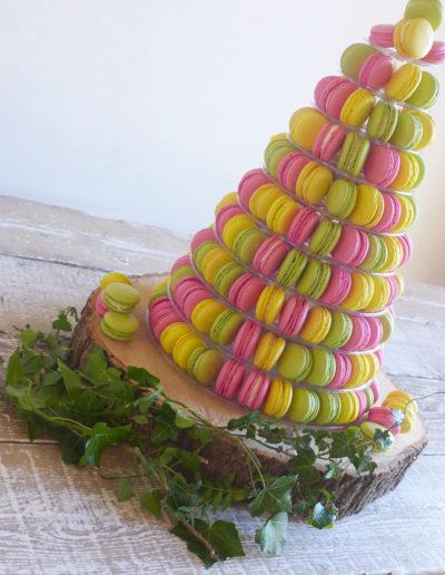 macaron-tower-lemon-raspberry-pistachio